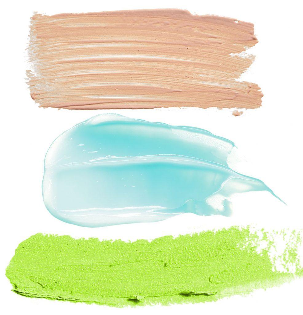 farebná kombinácia mentolovej s béžovou a limetkovou