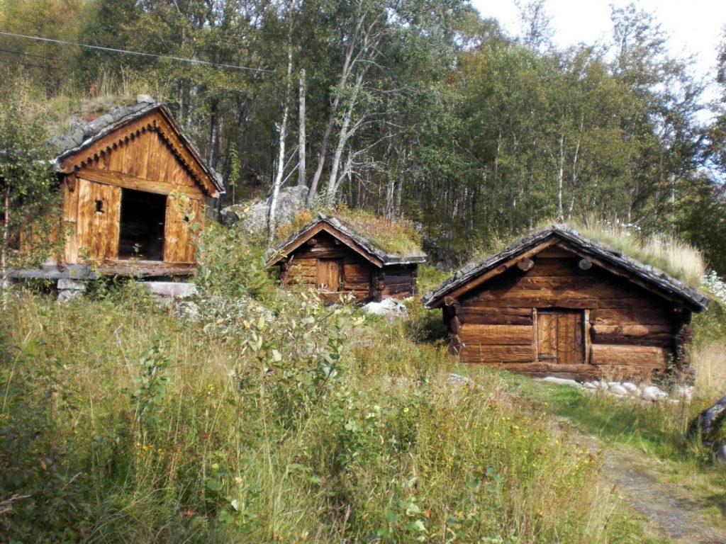 zrubové domy v Škandinávii