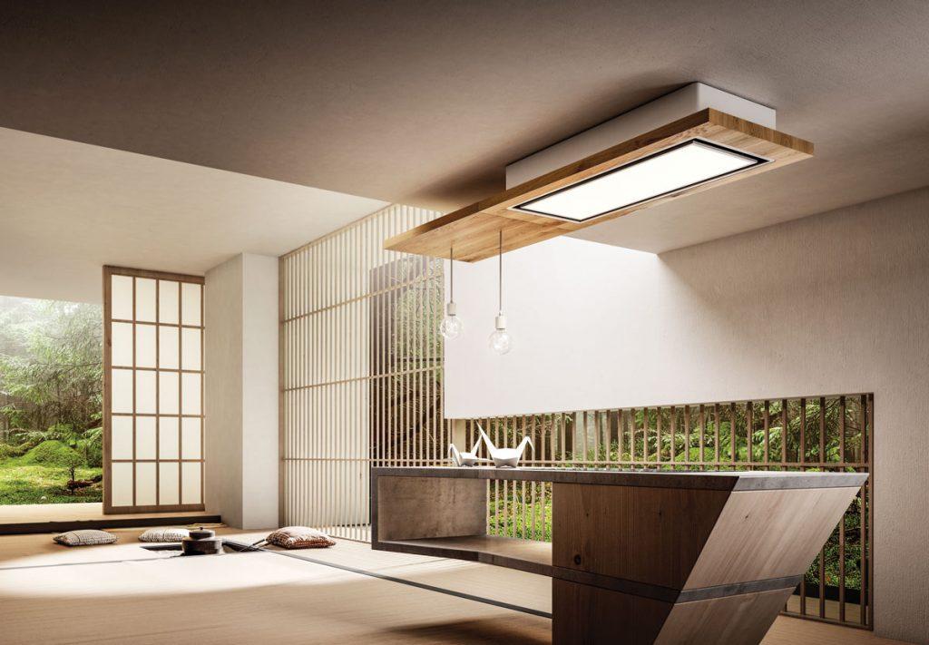 moderná minimalistická kuchyňa s odsávačom pár od firmy Elica
