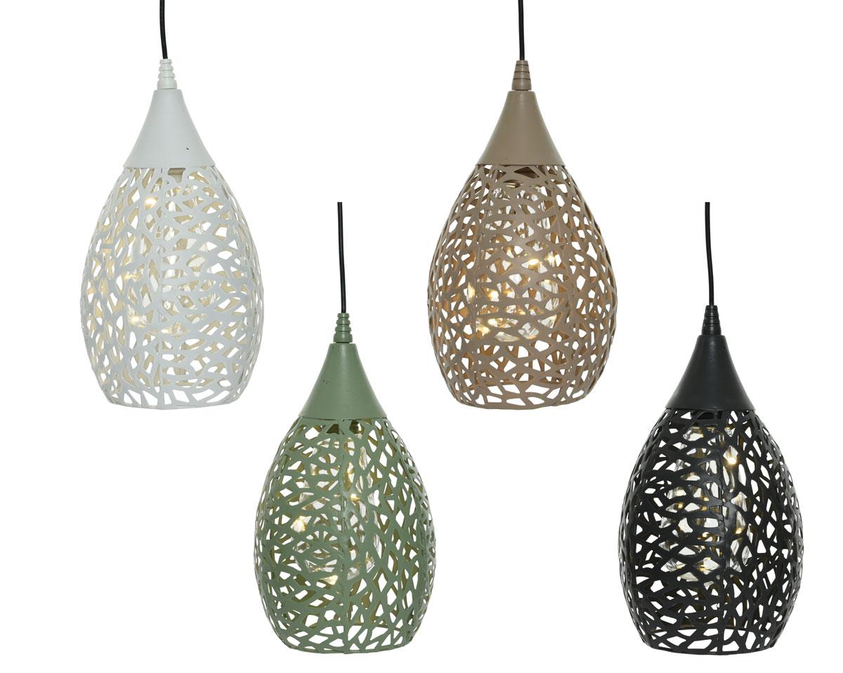 Solárne závesné lampy v štyroch rôznych farbách
