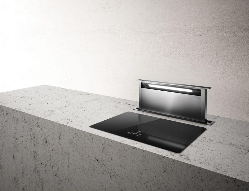 digestor zabudovaný v kuchynskej linke