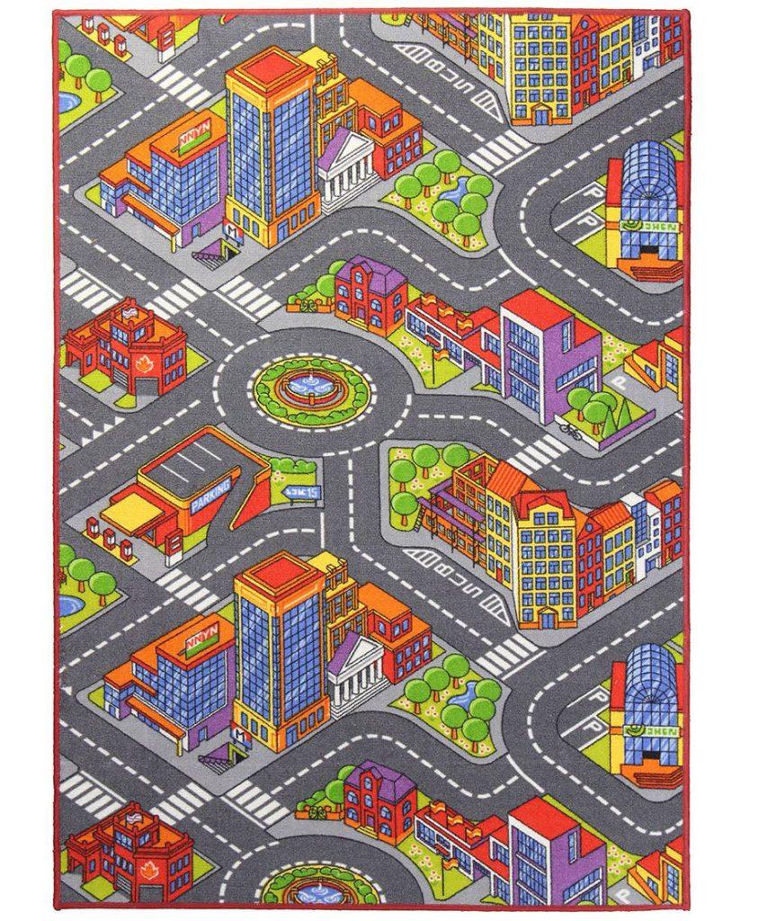 Breno detský koberec s motívom mestečka