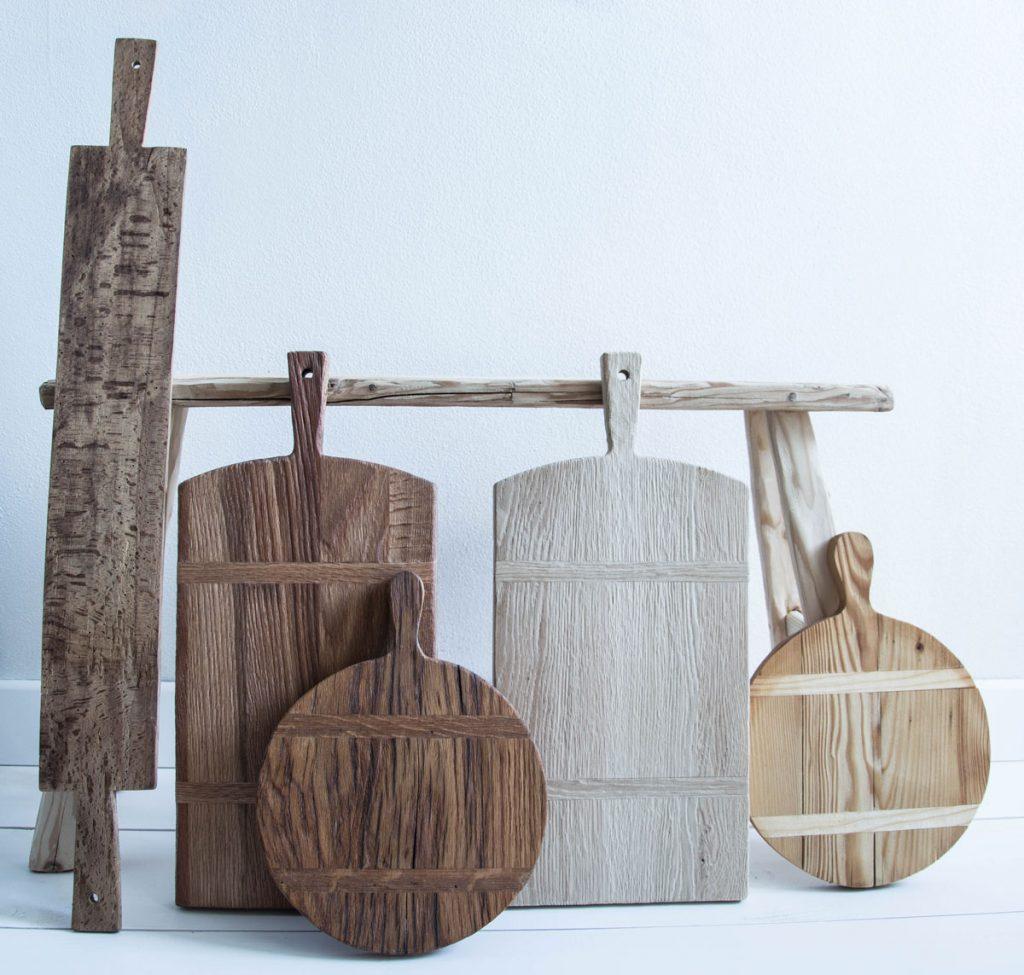 okrúhle a obdĺžnikové drevené lopáre z dielne 50 Arches