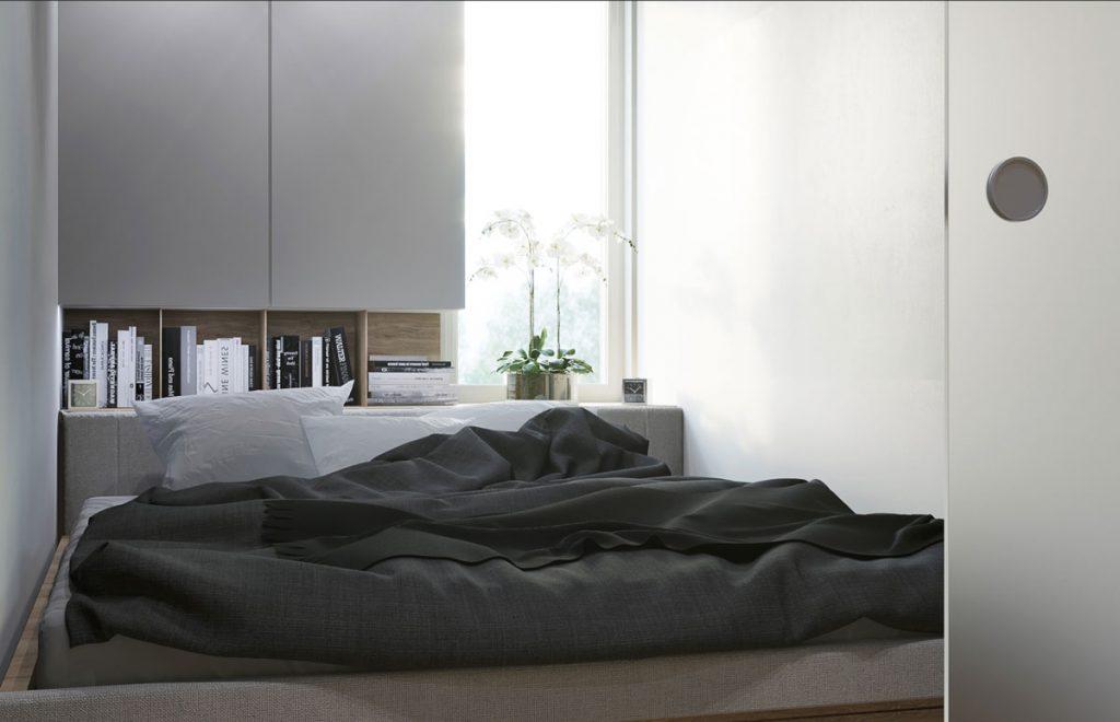 vizualizácia spálne v dvojizbovom byte