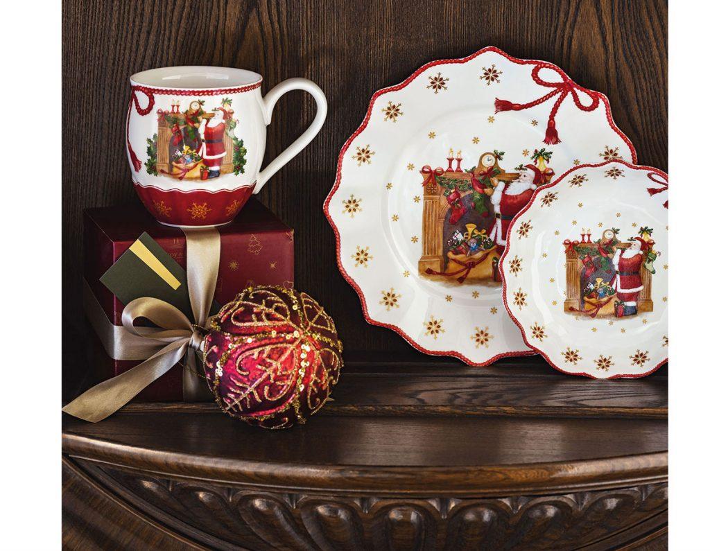 ručne maľovaný vianočný porcelán
