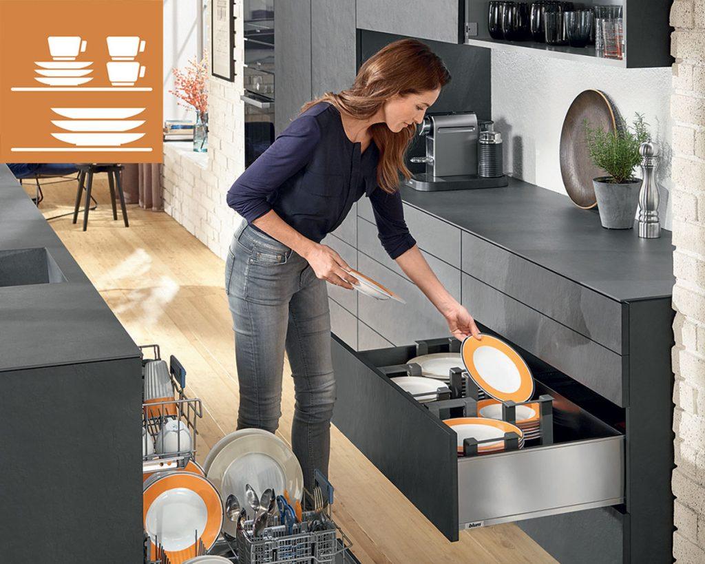 kuchynské úložné priestory