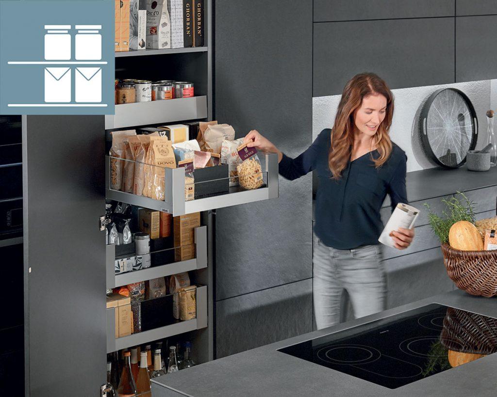 ako si prakticky rozmiestniť úložné priestory v kuchyni