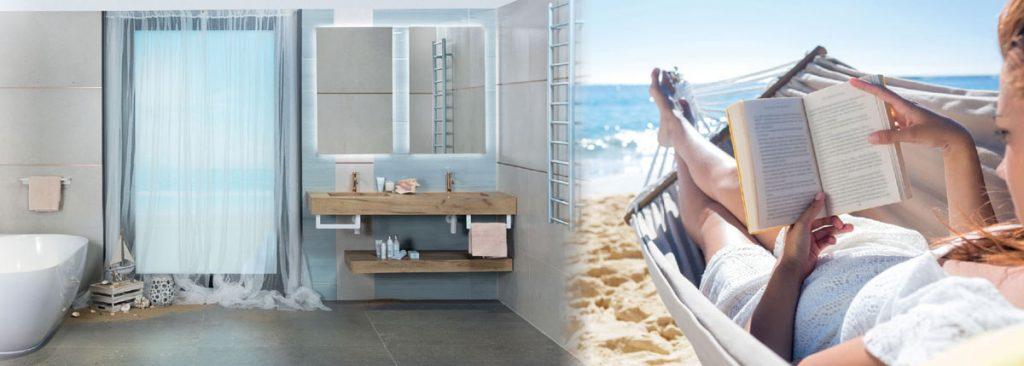 Siko kúpeľňa v štýle prímorskej atmosféry