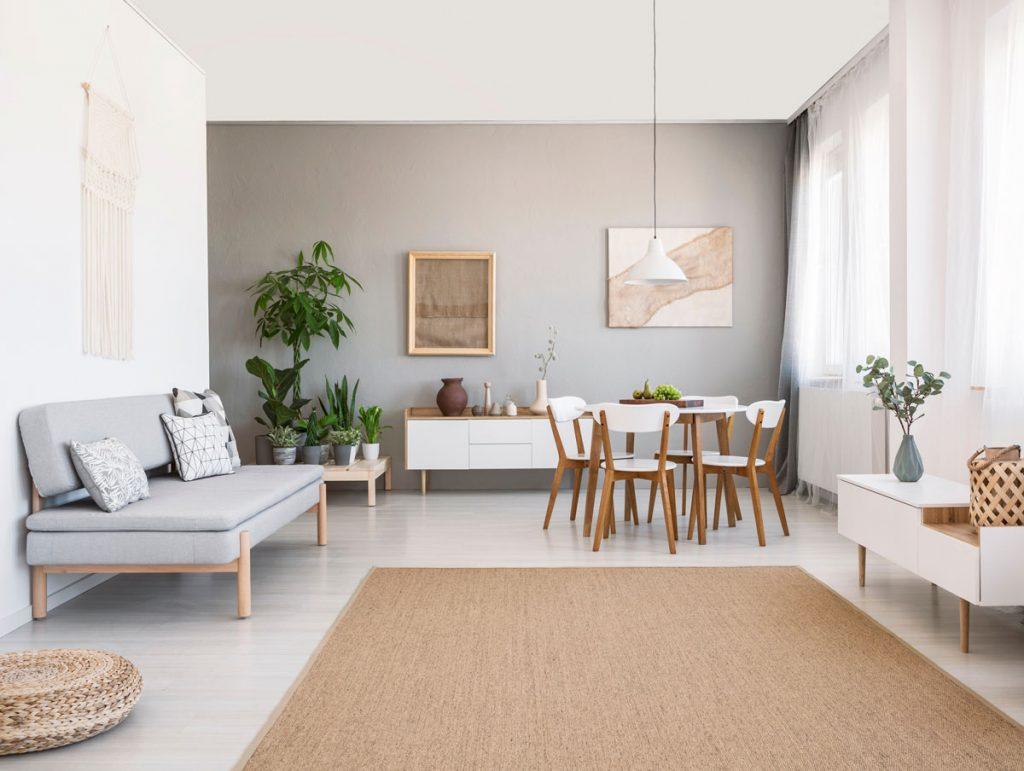 interiér v minimalistickom severskom štýle