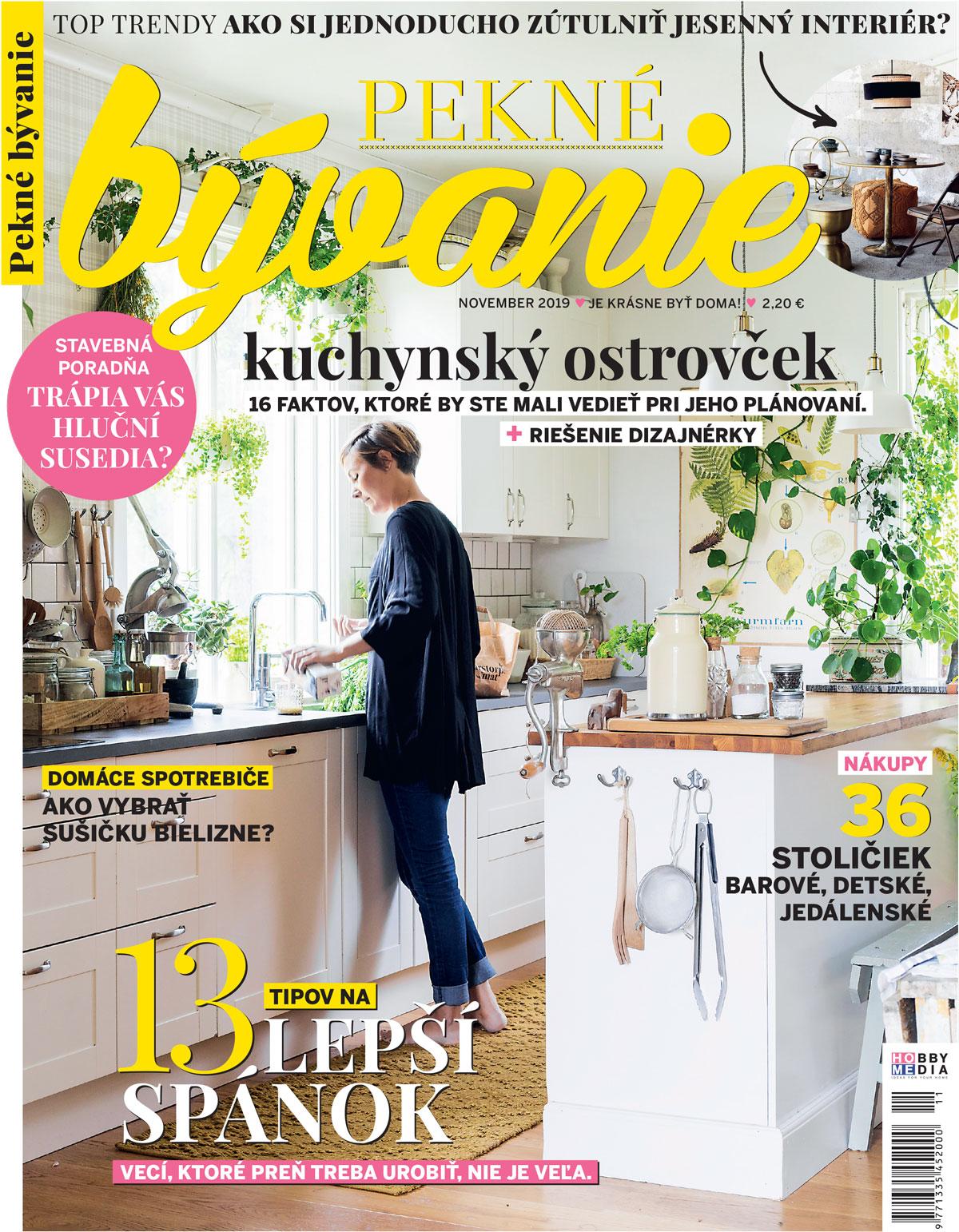 novembrové vydanie časopisu Pekné bývanie