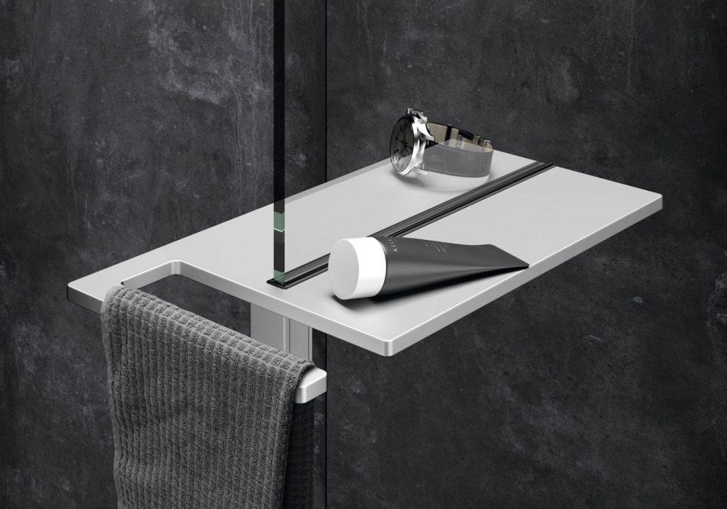 kúpeľňový držiak na drobné predmety