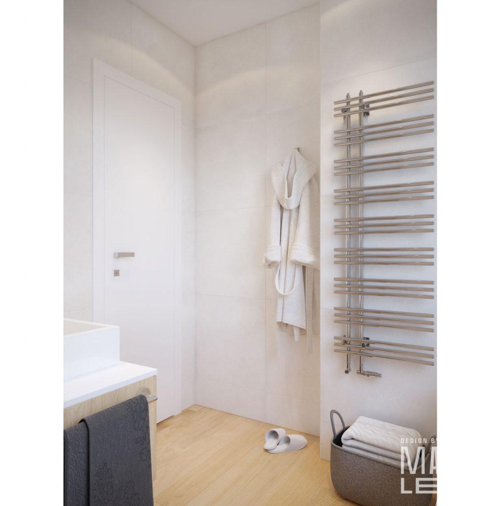 návrh panelákovej kúpeľne v škandinávskom štýle