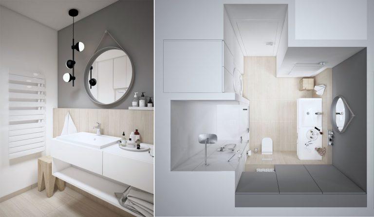 Kúpeľňa z dielne developera vylepšená o predstavy majiteľa bytu