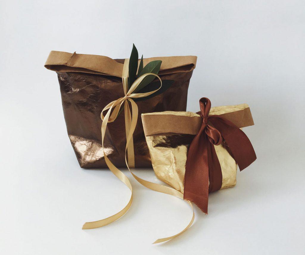 metalické vrecko na balenie darčekov