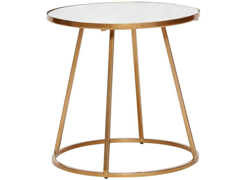 mramoroví stolík kombinovaný so železom