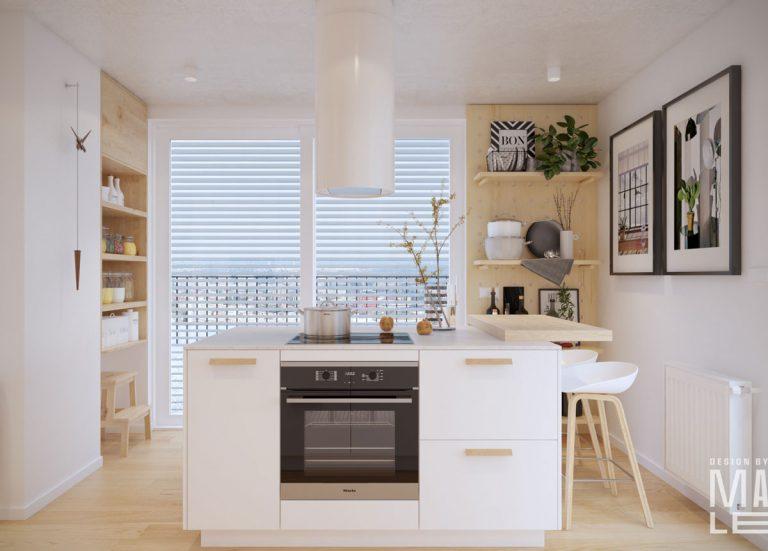 Dizajnérske riešenie kuchyne s veľkou rozlohou: Praktická, útulná a s ostrovčekom