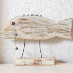 dekorácia ryby vyrobená zo zbytkov dreva