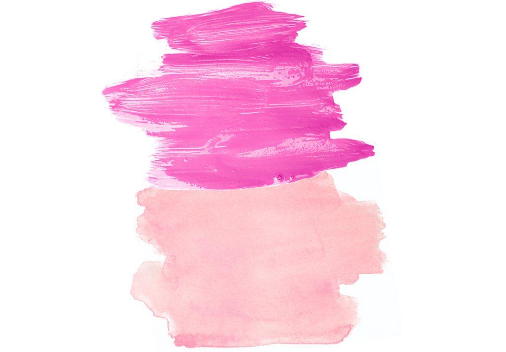 odtiene ružovej pre kombinovanie s koňakovou farbou