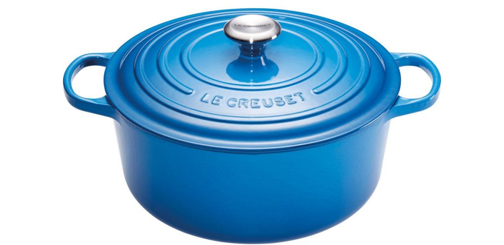Liatinový hrniec v modrej farbe Le Creuset od BellaTavola