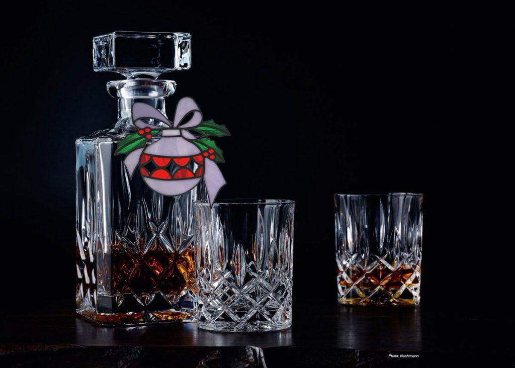 karafa s pohármi z bavorského krištáľového skla