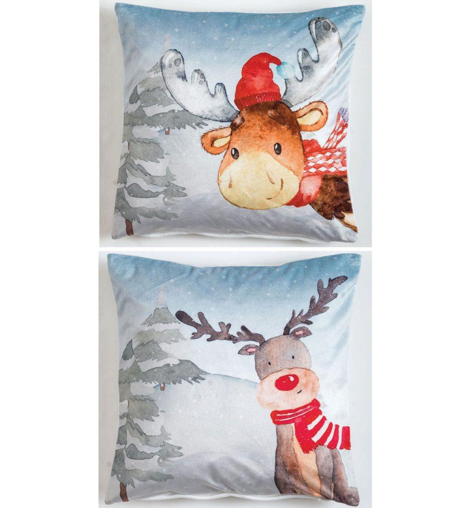 vianočné poťahy na vankúš s motívom soba