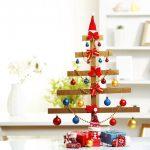 alternatívny vianočný stromček z drevených latiek