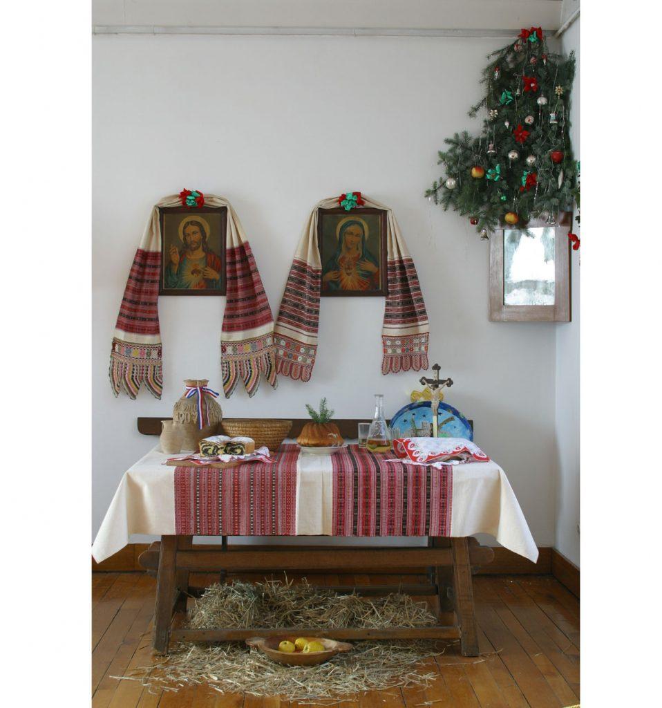 vianočné stolovanie predkov