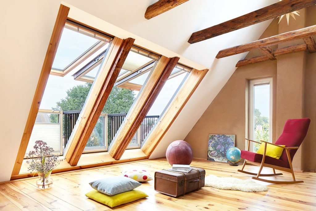 podkrovie so strešnými oknami