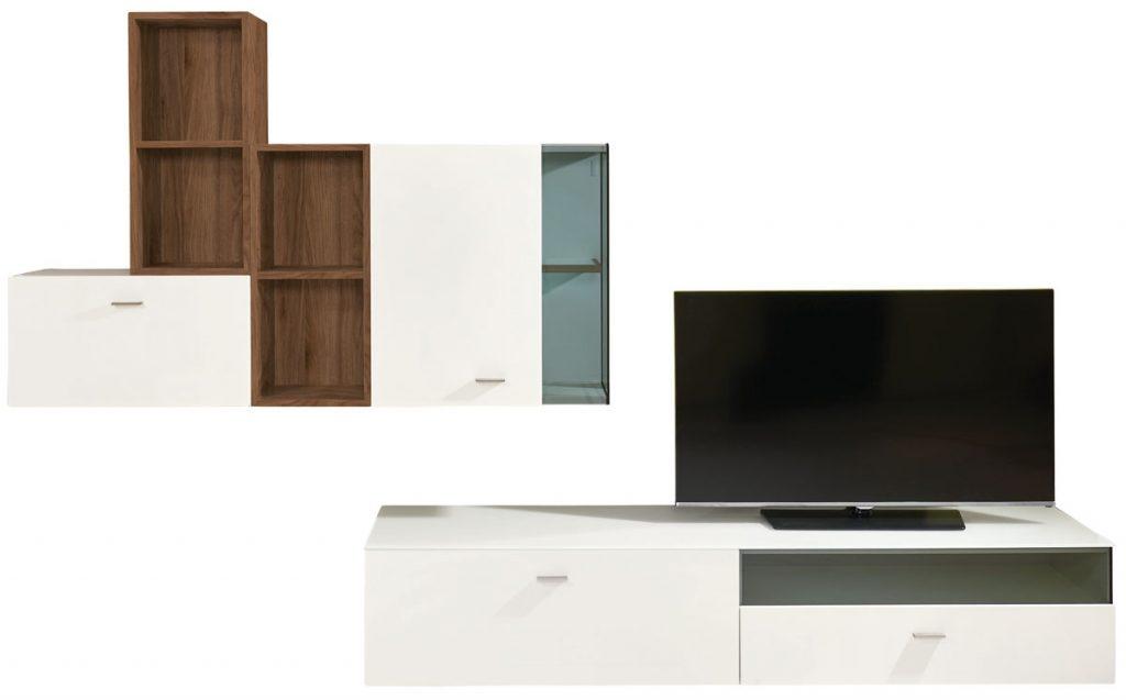 obývacia zostava v bielej farbe vhodná do podkrovia