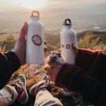 smaltované fľaše značky Ľúbené s motívom ježka