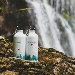 smaltované fľaše značky Ľúbené v motívom hôr