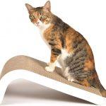 obojstranné škrabadlo pre mačky z kartónu