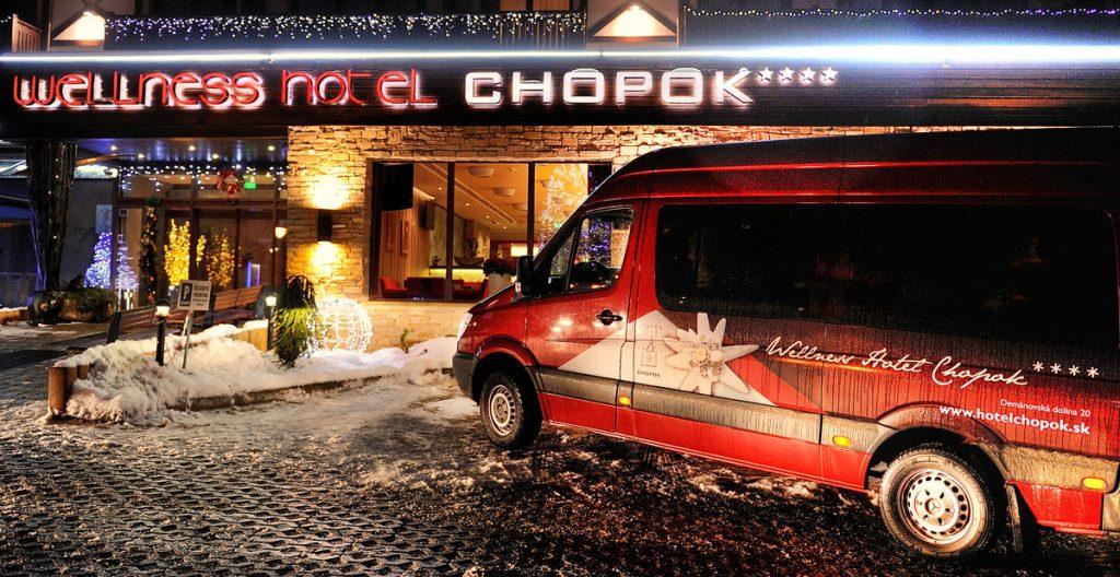 hotelový skibus pre hostí Wellness Hotel Chopok ****