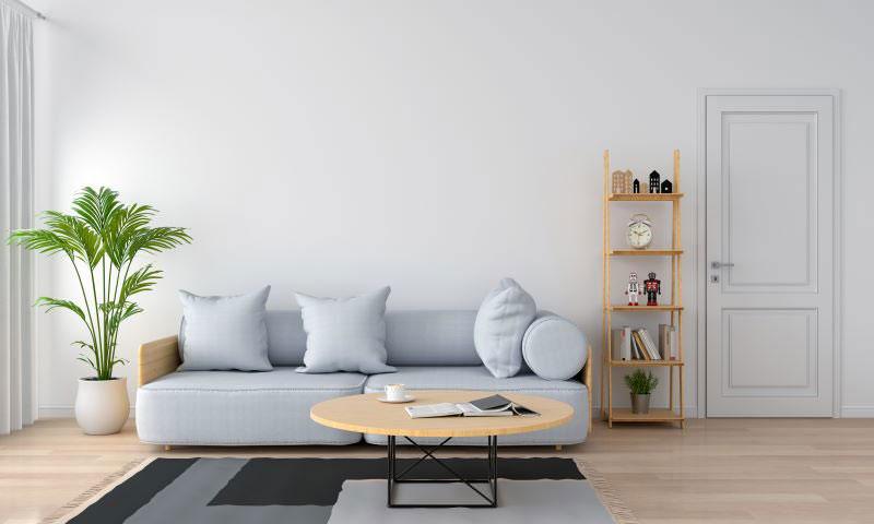interiérové trendy 2020, obývačka v šedých tónoch