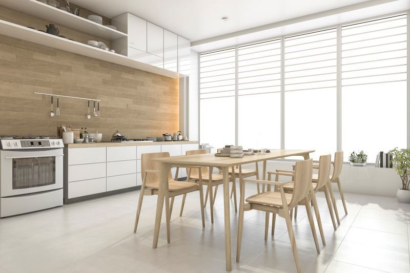 interiérové trendy 2020, kuchyňa prepojená s jedálňou
