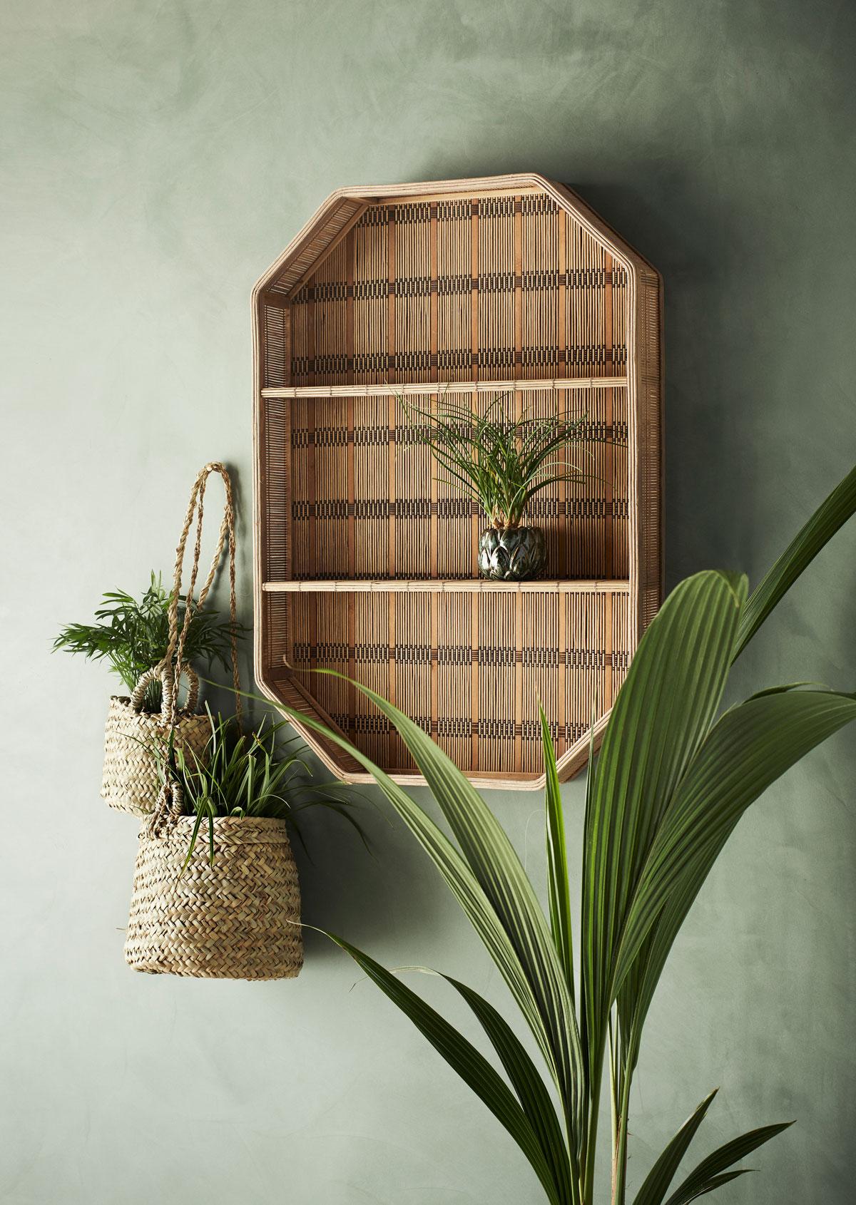 servírovací stolík na kolieskach zo žuly a bambusu