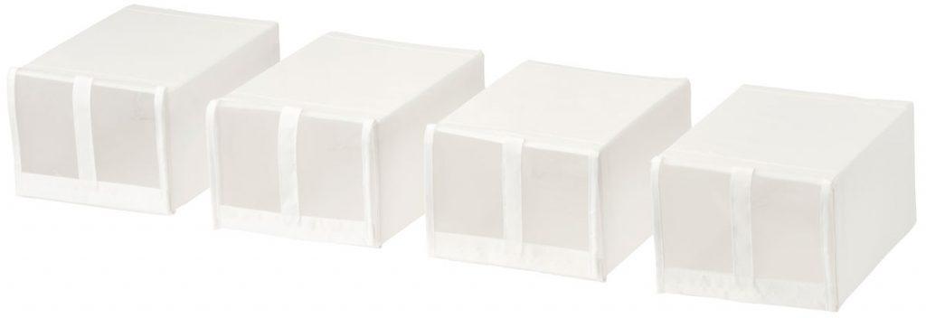 úložné priestory: Škatuľa na topánky.