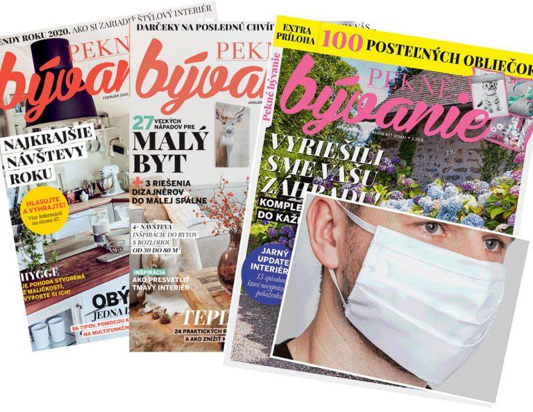 Ročné predplatné časopisu Pekné bývanie teraz aj s rúškom!