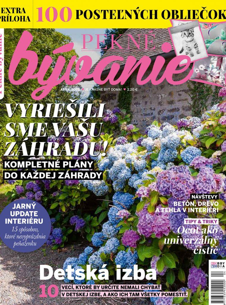 aprílové vydanie časopisu Pekné bývanie