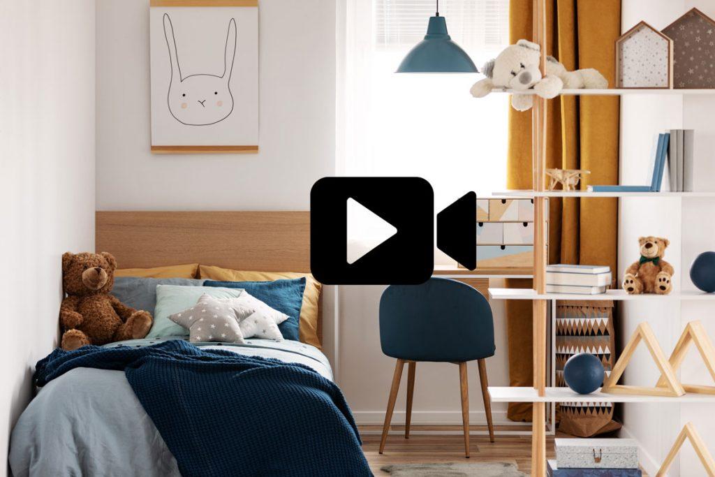 čo by nemalo chýbať v detskej izbe: detská izba v modro-hnedom prevedení