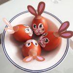 kraslice ako veľkonočné zajačiky
