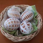 háčkované veľkonočné vajíčka