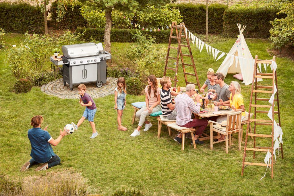 záhradná grilovacia párty