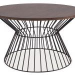 kovový stolík na štýl 60. rokov