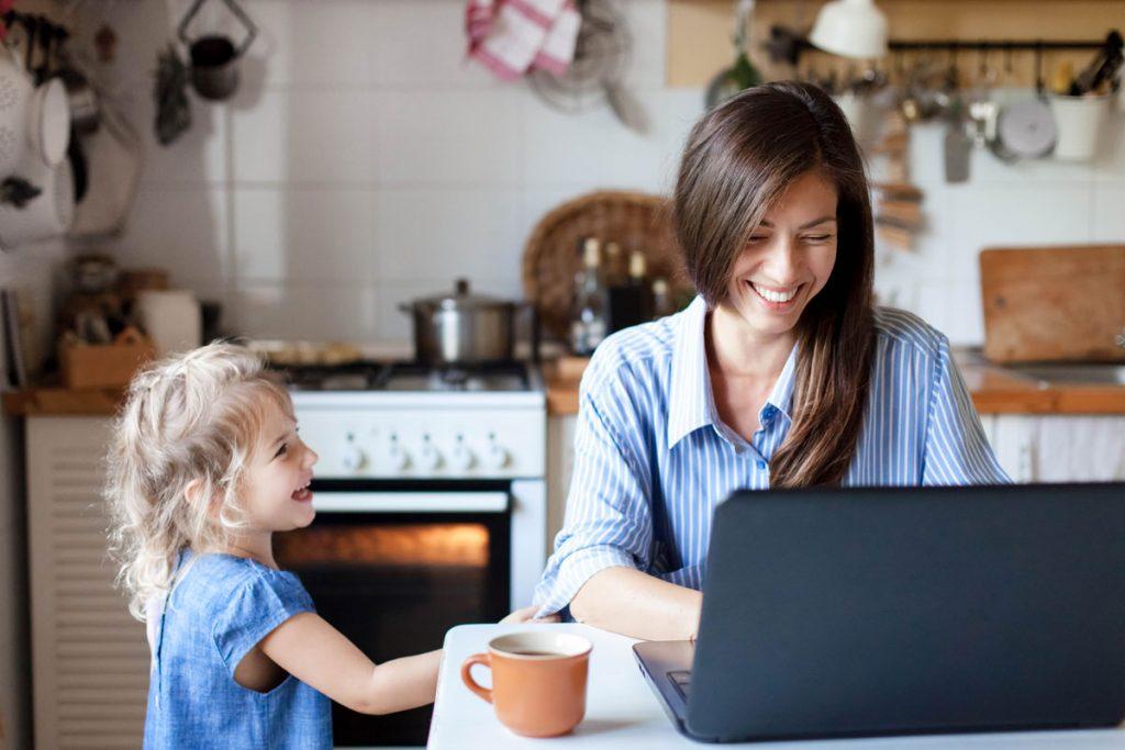 Práca z domu a učenie detí