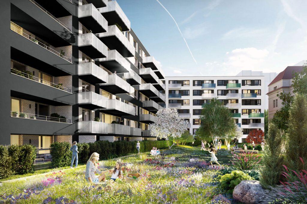 Projekt bývania Jégého alej - zelená strecha