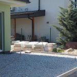 kladenie betónových platní na štrkové lôžko: Zarovnanie