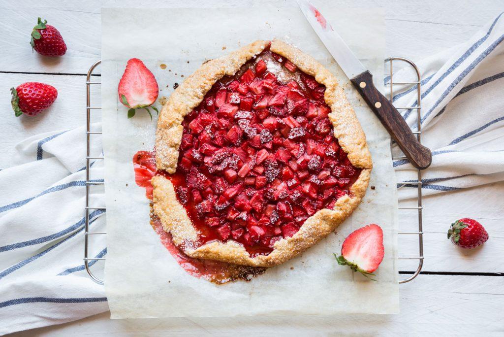 Recept na tvarohovo-jahodový koláč
