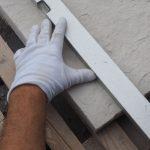 kladenie betónových platní na štrkové lôžko: Zakreslenie