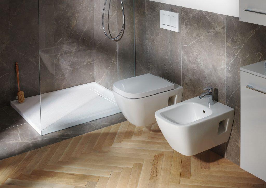 WC misa a bidet kúpeľňovej série Geberit Selnova